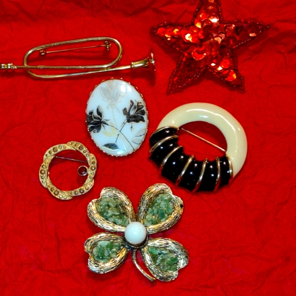 A very lovely lot of women's brooches